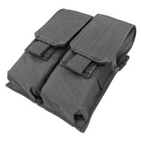 Tactical Molle Double Closed Top M4 Mag Pouch - Black