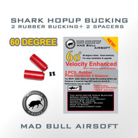 Madbull Airosft Hop Up Bucking - 60 Degree RED Shark Bucking-2pk