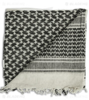 WOVEN COALITION SHEMAGH / SCARVES 42X42 - White/BLACK