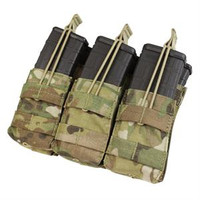 Triple Stacker Open-Top M4 Mag Pouch - MultiCam