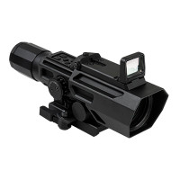 ADO 3-9X42 Scope w/Flip Up Red Dot Optic-Blk