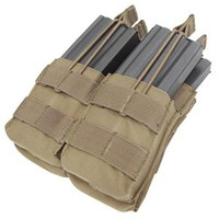 Double Stacker Open-Top M4 Mag Pouch- TAN - MA43