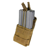 Single M4 Open-Top Stacker Mag Pouch TAN -MA42-003