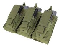 Triple AR/AK Mag Pouch w/pistol mag- OD-MA72-001