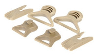Goggle Swivel Clips For ARC Helmet Rail ( Tan )