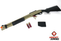 JAG Arms Scattergun HDS Tan Gas Shotgun Airsoft Gun (Extended Tube)