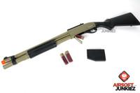 JAG Arms Scattergun HDS Tan Gas Shotgun Airsoft Gun (Extended Tube)