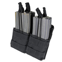 Double Stacker Open-Top M4 Mag Pouch- Black - MA43-002