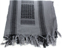 WOVEN COALITION SHEMAGH/SCARVES 42X42 - KHAKI/BLACK