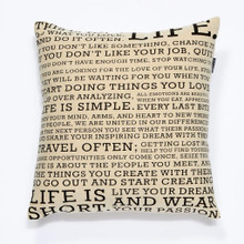 Script Cushion -  Black