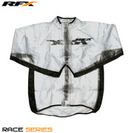 RFX Race Series Wet Jacket (Clear/Black) Size Adult