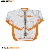 RFX Race Series Wet Jacket (Clear/Orange) Size Youth