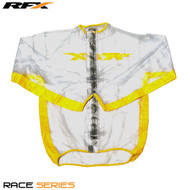 RFX Race Series Wet Jacket (Clear/Yellow) Size Adult