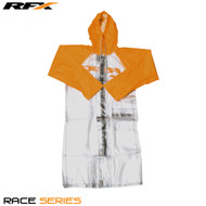 RFX Race Series Rain Coat Long (Clear/Orange) Size Adult