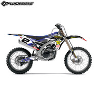 Flu 2015 Full Rockstar Decal Kit Inc Backgrounds - Yamaha Various Models