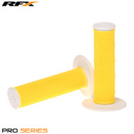 RFX Pro Series 20400 Dual Compound Grips White Ends (Yellow/White) Pair