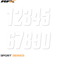 RFX 6 Thin Number Pack (White) 20pcs (Various Options)