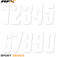 RFX 8 Thin Number Pack (White) 20pcs (Various Options)