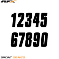 RFX 4.5 Thin Number Pack (Black) 20pcs (Various Options)