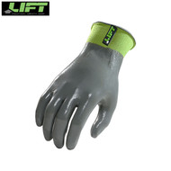 Lift Palmer Nitrile Full Suspension Glove Grey/ Green (Pair)