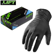 Lift Nitrile Ni-Flex Work Gloves Black - Box