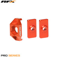 RFX Pro Series Rear Axle Adjuster Blocks (Orange) KTM SX50 09-15