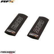 RFX Forkshrink Upper Fork Guard with Showa logo (White) Universal 85cc