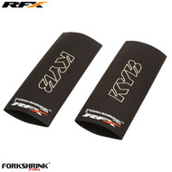 RFX Forkshrink Upper Fork Guard with KYB logo (White) Universal 125cc-525cc
