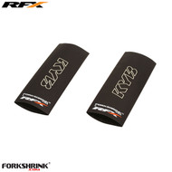 RFX Forkshrink Upper Fork Guard with KYB logo (White) Universal 85cc