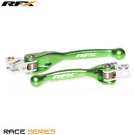 RFX Race Series Forged Flexible Lever Set (Green) Yamaha YZ125/250 08-14 YZF250 07-08 YZF450 08 Kawasaki KXF250/450 13-17
