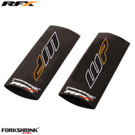 RFX Race Series Forkshrink Upper Fork Guard with 2016 WP logo (White/Orange) Universal 125cc-525cc