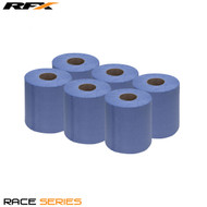 RFX Workshop 2 Ply Blue Roll (6 Pack) 180mm x 78mtr