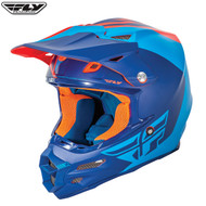 Fly F2 Carbon Pure Adult Helmet (Matte Blue/Orange/Black)