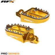 RFX Pro Series Shark Teeth Footrests (Yellow) Suzuki RMZ450 08-09