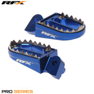 RFX Pro Series Shark Teeth Footrests (Blue) Yamaha YZ/YZF 125-450 99-17 Gas Gas EC 125-300 98-17