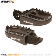 RFX Pro Series Shark Teeth Footrests (Hard Anodised) KTM SX/SXF 16-17