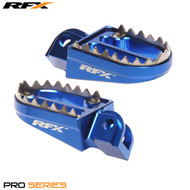 RFX Pro Series Shark Teeth Footrests (Blue) Husqvarna TC85 14-17