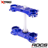 Xtrig ROCS Tech Triple Clamp Set (Blue) Husqvarna TC/FC 14-17 (OS 22mm) M12