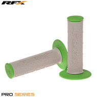 RFX Pro Series 20500 Dual Compound Grips Grey Centre (Grey/Green) Pair