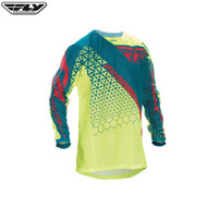 Fly 2016.5 Kinetic Mesh Youth Jersey Trifecta Hi-Viz/Teal Size Youth XLarge