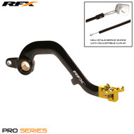 RFX Pro FT Rear Brake Lever (Black/Yellow) Suzuki RM250 01-08