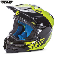 Fly F2 Carbon Pure Adult Helmet Hi-Viz/Black
