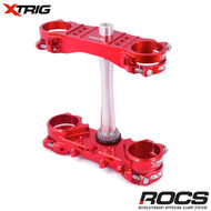 Xtrig ROCS Tech Triple Clamp Set (Red) Honda CRF250 14-17 CRF450 13-16 (OS 20mm) M12