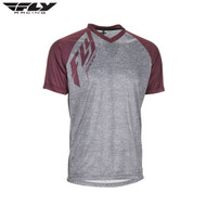 Fly Bike Action MTB Adult Jersey (Heather Grey/Burgundy)
