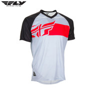 Fly Bike Action Elite MTB Adult Jersey (Grey/Red/Black)