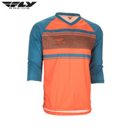 Fly Bike Ripa 3/4 MTB Adult Jersey (Orange/Dark Teal)