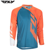 Fly Bike Radium MTB Adult Jersey (Dark Teal/Orange/White)