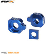 RFX Pro Rear Axle Adjuster Blocks (Blue) Husqvarna TC65 17>On