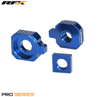 RFX Pro 2 Rear Axle Adjuster Blocks (Blue) Husqvarna TC85 14>On