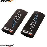 RFX Race Series Forkshrink Upper Fork Guard with 2016 WP logo (White/Blue) Universal 125cc-525cc